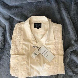 NWT West Line Yucatán Mexico Button Down Size L